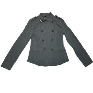 EXPRESS Military Jacket Cotton Blend Gray Women's